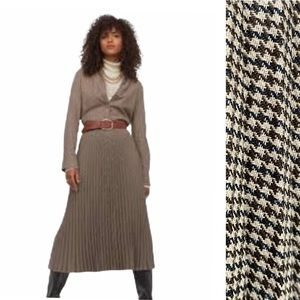 Giuliva Heritage H&M Pleated Houndstooth Skirt